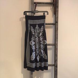 Black/White VENUS Tube Top Strapless Dress